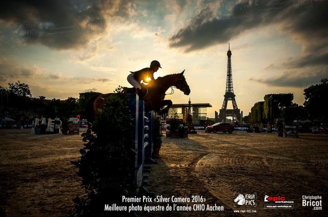 FRANCE, Paris : Lauren HOUGH (USA) riding Ohlala during the Paris Eiffel Jumping on July 4th , 2015 in Paris, FRANCE - Photo Christophe Bricot